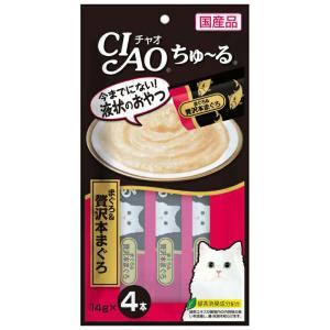 CIAO ちゅ~る まぐろ&贅沢本まぐろ 14g×4本【KSPET】(wn1102)|osharecafe