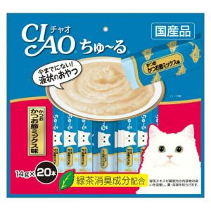 CIAO ちゅ~る かつお かつお節ミックス味 14g×20本入り【KSPET】(wn1102)|osharecafe