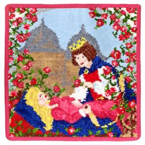 [メール便送料無料]フェイラー タオルハンカチ Fairy tales 眠れる森の美女 SLEEPING BEAUTY-135 (TKD)(TN323-5)|osharecafe