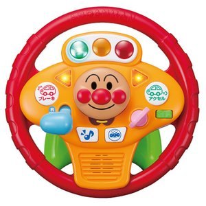 アンパンマン ミュージックでGO! のりのりドライブハンドル[2才以上][ピノチオ/乗用シリーズ/株式会社アガツマ][送料無料]|osharecafe