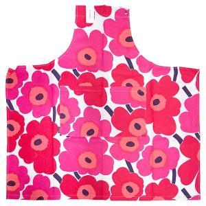 [メール便送料無料]マリメッコ エプロン 64161#001(レッド) marimekko apron (TKD)(TN317-2)|osharecafe
