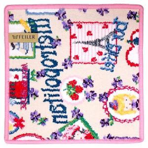 [メール便送料無料]フェイラー タオルハンカチ ツールドパリス TOUR DE PARIS-136 ピンク(pink)[25×25] (TKD)(TN322-2)|osharecafe