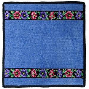 [メール便送料無料]フェイラー ハンカチ Anemone Schwarz-205 Jeans Blau[30×30](TKD) FEILER|osharecafe
