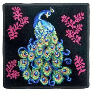 [メール便送料無料]フェイラー ハンカチ Peacock-010 Black[30×30](TKD) FEILER|osharecafe