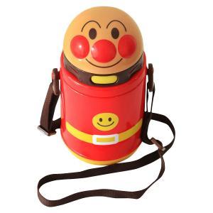 レック アンパンマン ストロー付ダイカット水筒(保冷) KK-318[お出かけ/ワンタッチボタン/プラスチック製][SBT]|osharecafe
