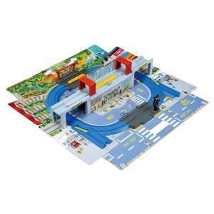 プラレール ひろげて立体!トミカとプラレールの街マップ[タカラトミー/プラレール/おもちゃ/男の子/ミニカー][3歳〜][送料無料]|osharecafe