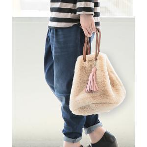 ショルダーバッグ ハンドバッグ レディース 2wayバッグ 巾着バッグ フェイクファー タッセル パステル ノアール『n'Or2way巾着ファーバッグ』【メール便不可】|osharewalker