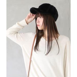 キャップ 帽子 レディース ファッション小物 フェイクファー エコファー カラバリ 無地 あったか 調整可能  ふわふわファーキャップ 【メール便不可】|osharewalker
