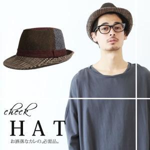 ハット メンズ 小物 チェック柄 パッチワーク 帽子 ベルトリボン ユニセックス パッチワークチェックハット >style>【メール便不可】|osharewalker