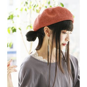 0265677840e15 ベレー帽 レディース ファッション小物 アクセサリー メッシュ素材 編地 涼しい サイズ調節可能 メッシュベレー帽  メール便不可