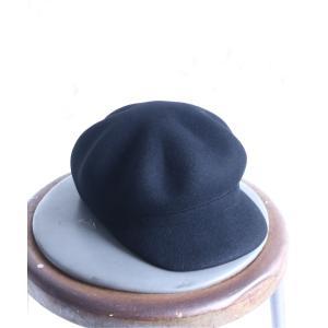 キャスケット レディース 帽子 ハンチング キャップ フェルト ラフモード ノアール  n'Orフェルトキャスケット【メール便不可】|osharewalker