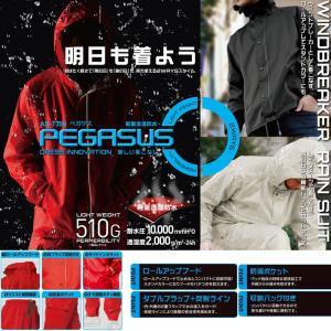 透湿 レインスーツ ペガサス M〜3L 蒸れにくい快適レインウェア|oshigotoichiba