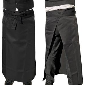 ソムリエエプロン ロング丈 ブラック ポケット付き 89cm丈 oshigotoichiba