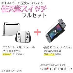スキンシールとガラスフィルムのお得セット ニンテンドー スイッチ ガラス フィルム  Nintendo Switch 本体 用 保護フィルム 任天堂スイッチ ゲーム GAME oshintamart