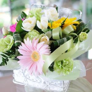 お供え お悔やみ お彼岸 仏花 ペット の お供え花 命日 葬儀 お悔やみ 贈る アレンジメント アンジュ|osonaehana