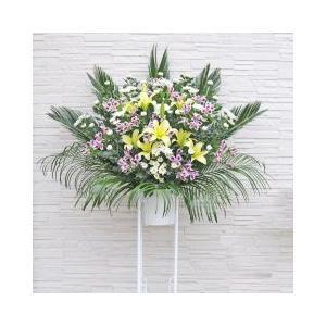 葬儀 お通夜用 花 スタンド花 1段タイプ 花キューピット加盟店 供花 生花|osonaehana
