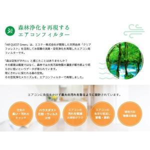 エアークエスト グリーン 業務用エアコン向けフィルター 2枚入り 57cm×57cm 花粉対策|osoujinoyakata|03