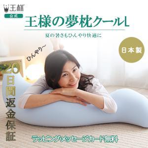 王様の抱き枕クールLサイズ  おまけの枕付き ポイント2倍 送料無料 超極小ビーズの王様の夢枕シリーズ 洗える 大きい もちもち いびき 腰痛 ひんやり 涼感 節電|ossya