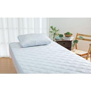 ロマンス小杉 ピローパッド 63x43cm アイス眠 EX-麻 枕パッド パッド ベッド 枕 ピロー...