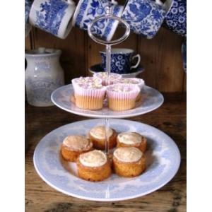 イギリス食器バーレイ社 ブルーアジアティックフェザンツ ティットビット(2段ケーキスタンド)|ostuni