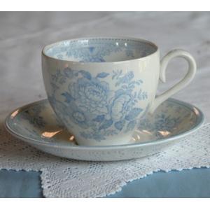 イギリス食器バーレイ社 ブルーアジアティックフェザンツ カップ&ソーサー180ml|ostuni