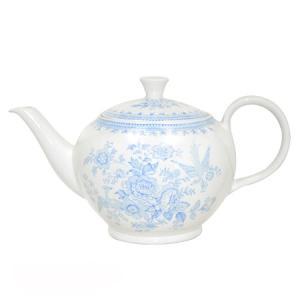 イギリス食器バーレイ社 ブルーアジアティックフェザンツ ティーポットL 800ml|ostuni