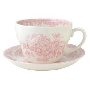 イギリス食器バーレイ社 ピンクアジアティックフェザンツ ブレックファースト カップ&ソーサー 300ml|ostuni