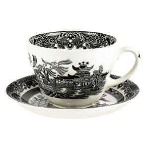 イギリス食器バーレイ社 ブラックウィロー ブレックファースト カップ&ソーサー 300ml|ostuni