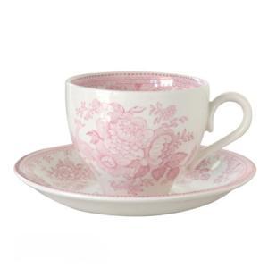 イギリス食器 バーレイ社 ピンクアジアティックフェザンツ ティーカップ&ソーサー 180ml |ostuni