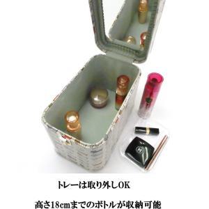 メイクボックス トレンチケース バニティケース 化粧収納 小物入れ アクセサリー 鍵付き 日本製 猫グッズ 猫雑貨 猫 グッズ 雑貨 ねこ ネコ 猫柄 小物|osyarehime|05