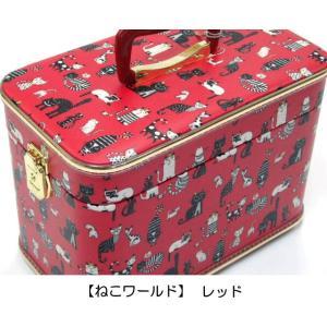 メイクボックス トレンチケース バニティケース 化粧収納 小物入れ アクセサリー 鍵付き 日本製 猫グッズ 猫雑貨 猫 グッズ 雑貨 ねこ ネコ 猫柄 小物|osyarehime|07