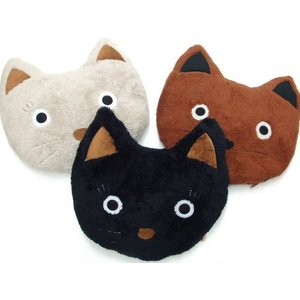 クッション シャロン顔型 ねこ顔 フェイスクッション 黒猫シャロン おしゃれ(猫グッズ 猫雑貨 猫 グッズ 雑貨 ねこ ネコ 猫柄 小物) osyarehime