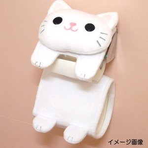 ペーパーホルダー トイレットペーパーホルダー ペーパーカバー トイレ 用品 黒 ねこのしっぽの物語(猫グッズ 猫雑貨 猫 グッズ 雑貨 ねこ ネコ 猫柄 小物)|osyarehime|08