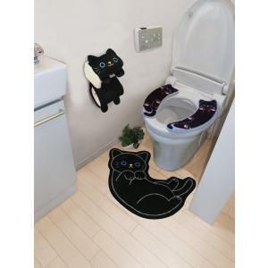 ペーパーホルダー トイレットペーパーホルダー ペーパーカバー トイレ 用品 黒 ねこのしっぽの物語(猫グッズ 猫雑貨 猫 グッズ 雑貨 ねこ ネコ 猫柄 小物)|osyarehime|09
