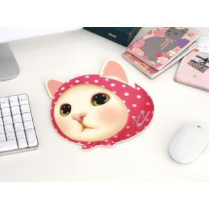 マウスパッド 猫の顔型 ピンク ねこ雑貨 ネコグッズ 通販 かわいい ジェトイ choochoo本舗 JETOY キャット|osyarehime|02