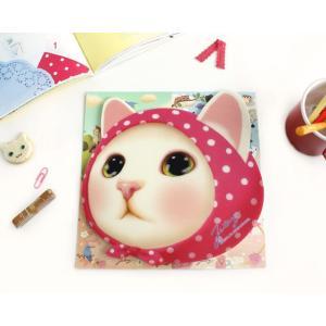 マウスパッド 猫の顔型 ピンク ねこ雑貨 ネコグッズ 通販 かわいい ジェトイ choochoo本舗 JETOY キャット|osyarehime|03