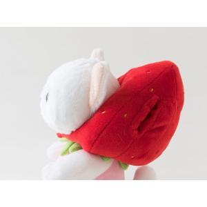ぬいぐるみ 猫 いちごコスチューム 白猫 Sサイズ フルーツ猫 choochoo本舗 チューチュー本舗 ねこ ネコグッズ 猫雑貨 薔薇雑貨のおしゃれ姫|osyarehime|06
