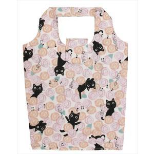 エコバッグ Sサイズ ノアファミリー ネコ柄 折り畳み 撥水加工 猫 雑貨 小物 猫グッズ 女性 レディース かわいい おしゃれ ギフト包装無料|osyarehime