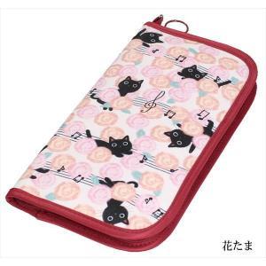 パスポートケース トラベル オーガナイザー パスポートカバー 財布 旅行 カード収納 小物入れ 収納ポーチ ノアファミリー 猫雑貨 猫グッズ レディース かわいい|osyarehime