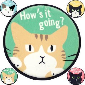 シートクッション  チェアクッション チェアパッド おしゃれ 36cm 丸型 滑り止め いす用 座布団 薄型 低反発  ネコ 猫柄 猫雑貨 猫グッズ かわいい osyarehime