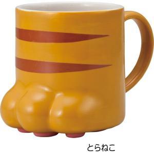 マグカップ 肉球マグ 三毛猫 トラネコ にくきゅうマグ 陶器 コーヒーカップ カップ 茶碗 コップ おしゃれ(猫グッズ 猫雑貨 猫 グッズ 雑貨 ねこ ネコ 猫柄 小物)|osyarehime|03