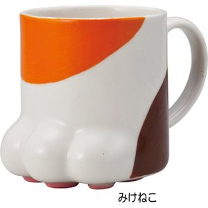 マグカップ 肉球マグ 三毛猫 トラネコ にくきゅうマグ 陶器 コーヒーカップ カップ 茶碗 コップ おしゃれ(猫グッズ 猫雑貨 猫 グッズ 雑貨 ねこ ネコ 猫柄 小物)|osyarehime|04