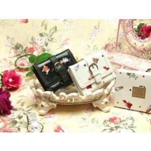 二つ折り財布 がま口 小銭入れ 不思議の国のアリス ウォレット かわいい おしゃれ うさぎ ギフト プレゼント|osyarehime