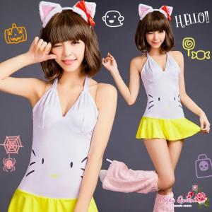ハロウィン コスプレ 衣装 レディース   コスチューム かわいい 猫 キャット|osyarevo