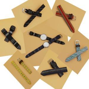 会津木綿 腕時計ベルト セミオーダーベルト 和柄 腕時計バンド 紳士用ベルト 男性用バンド osyu-tanagura