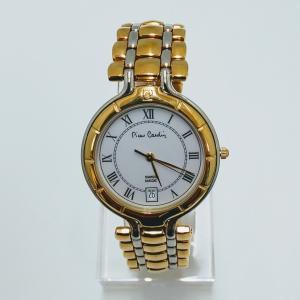pierre cardin ピエールカルダン SS金色白色コンビ腕時計 紳士用 クォーツ時計 osyu-tanagura