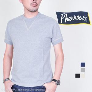フェローズ(Pherrow's)Vガゼット付きフライスTシャツ PCT1-S