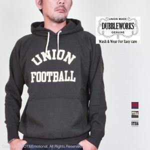 ダブルワークス(DUBBLE WORKS)丸胴スウェットパーカー UNION FOOTBALL