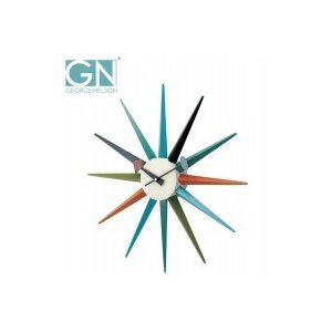 George Nelson ジョージ・ネルソン 壁掛け時計 サンバースト・クロック カラー GN396C|otafuku