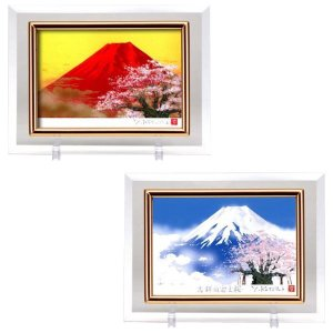 クリスタル絵画 赤富士桜・14982|otafuku